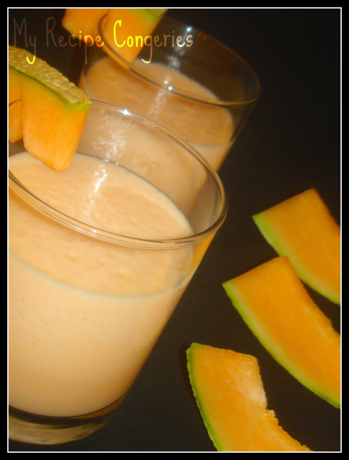 how to make a cantaloupe milkshake