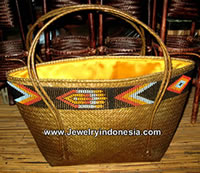 Rattan bags with beads from Bali Indonesia