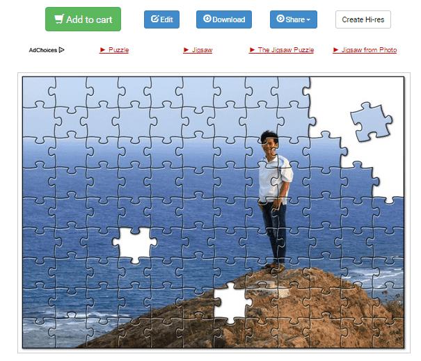 Cách tạo cover ảnh ghép puzzles