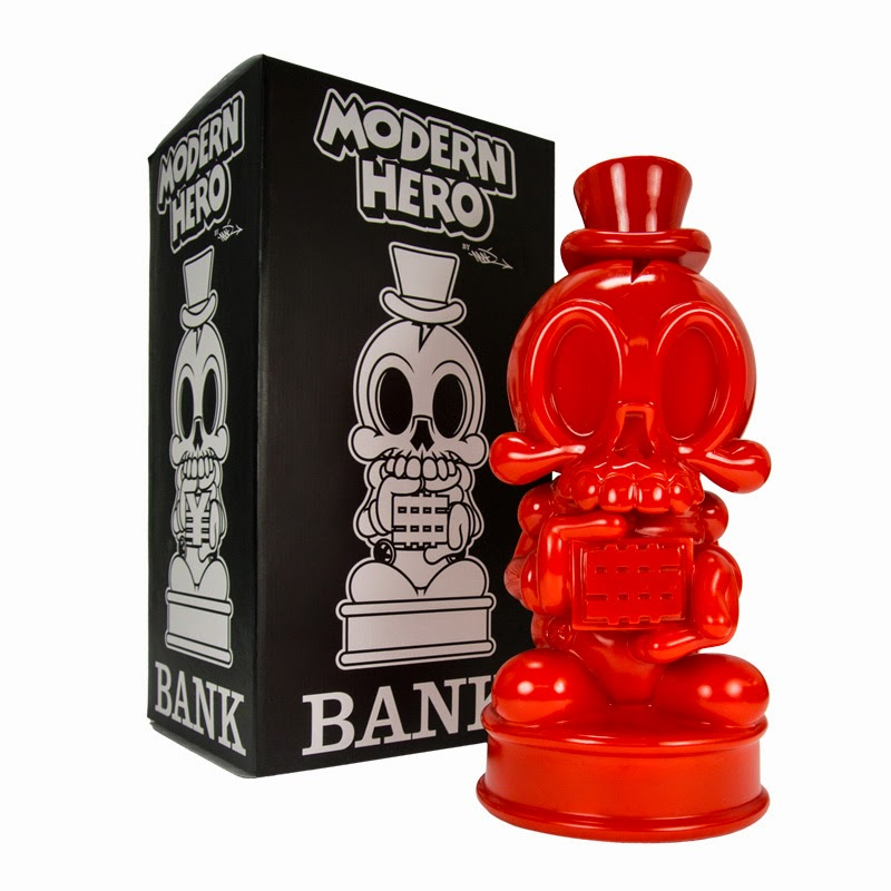 Designer Con 2014 Exclusive Red Modern Hero Vinyl Bank by MAD x Fully Laced