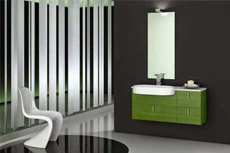 Simple Black Bathroom Remodeling with Vertical Mirror Design Ideas wallpaper