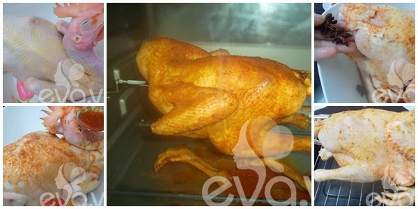Cách làm gà quay giòn nguyên con