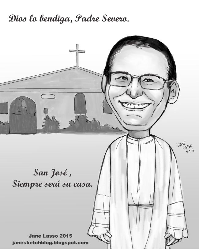 Caricatura en blanco y negro.