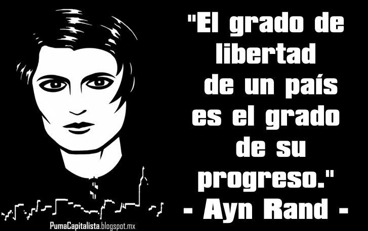 El Socialismo es un sistema económico inviable e injusto Frase+ayn+rand+2