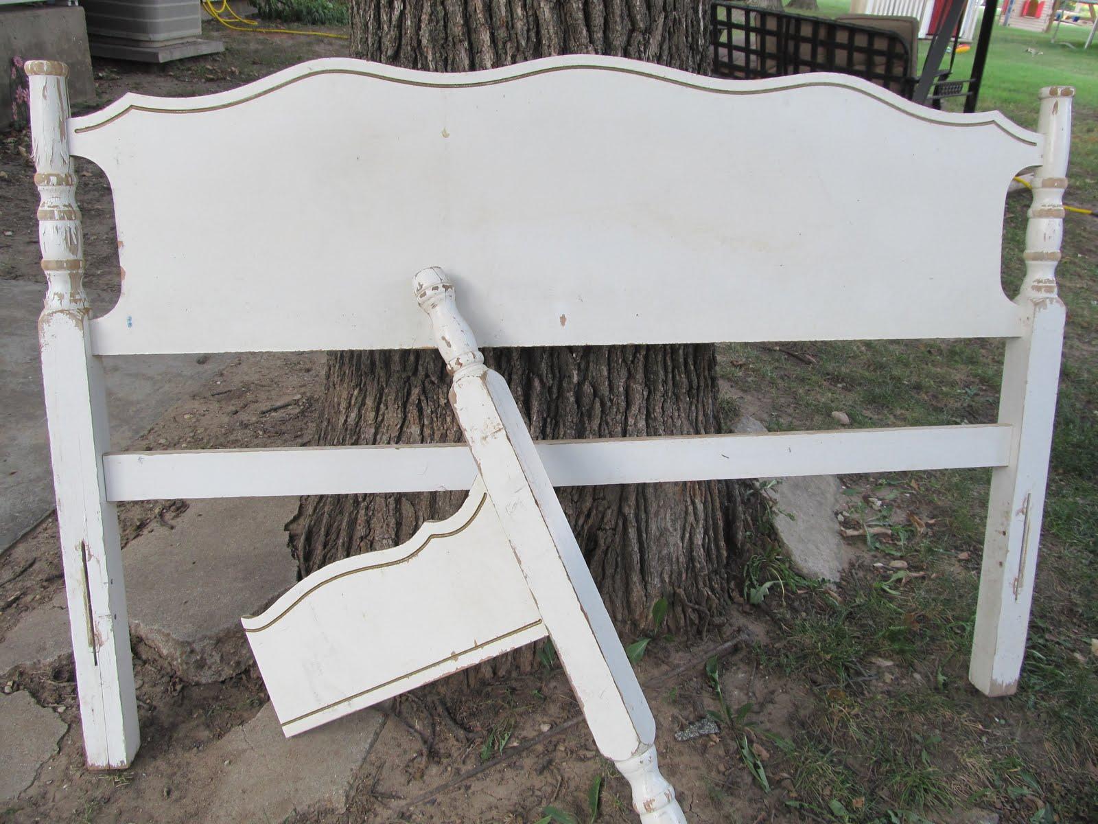 Happy As A Lark Headboard Garden Bench