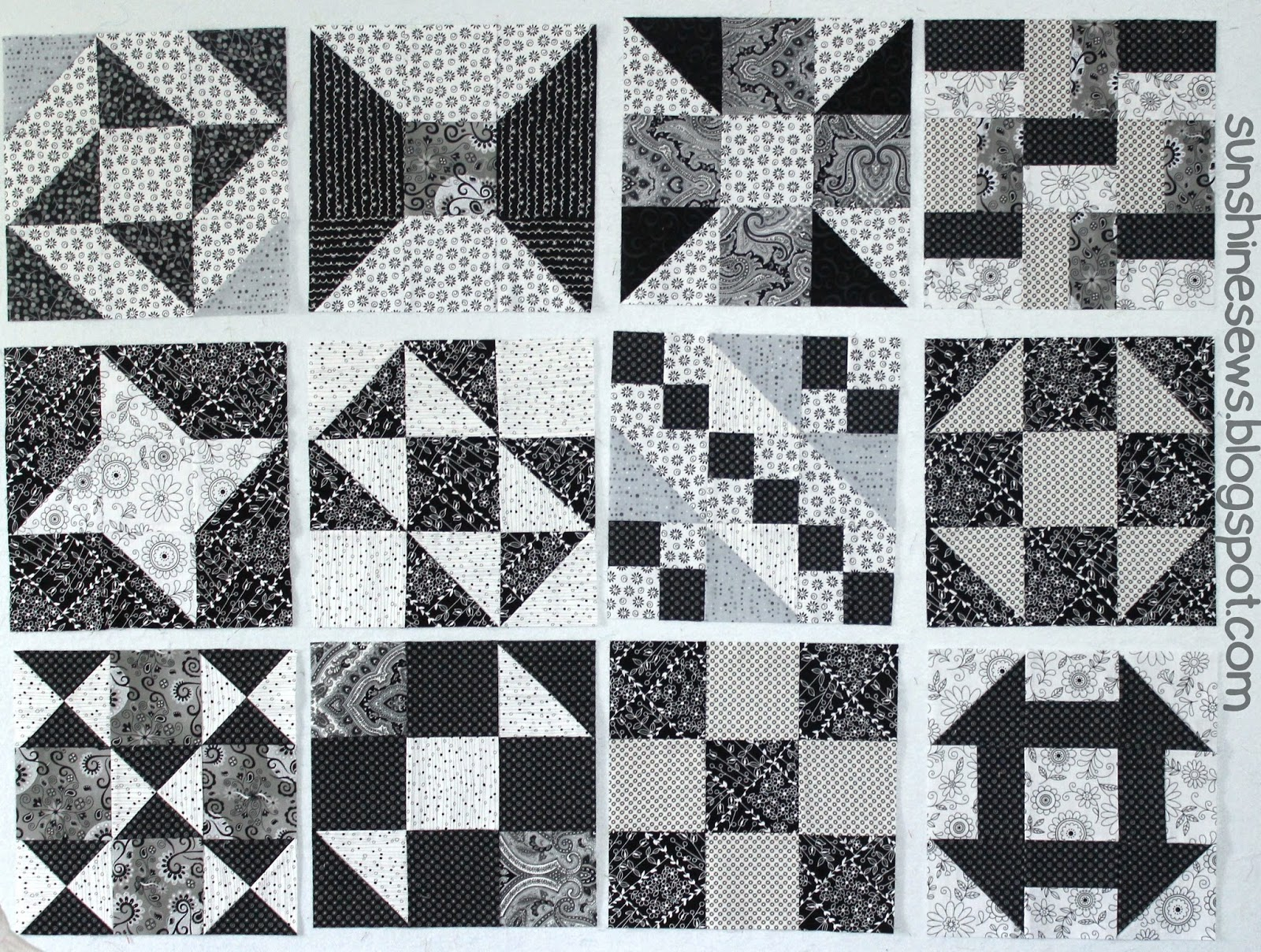 Black and White Sampler Quilt