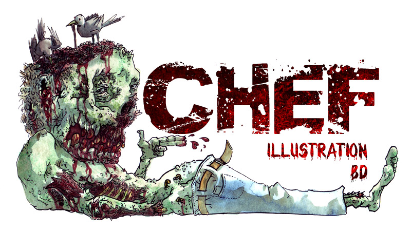 Chef : Illustration, Bd sur Marseille. Dessins monstrueux, zombies ou portraits zombifiés.