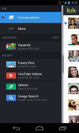 Kik Messenger App Screenshot