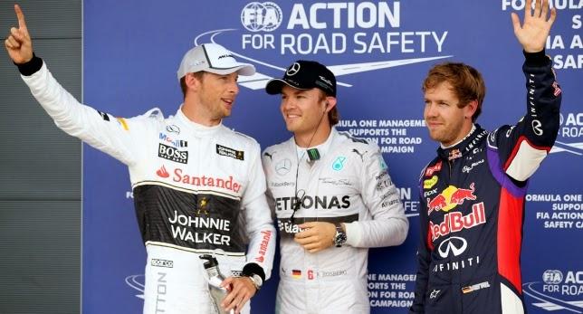 F1 GP Gran Bretaña--Rosberg se lleva la pole en casa de Hamilton