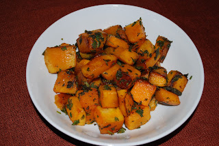 Butternut squash sauteed with olive oil and sage