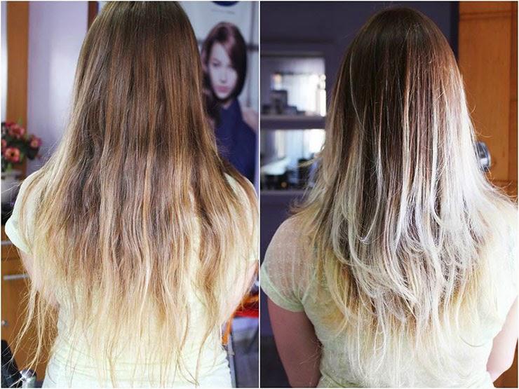 antes e depois cabelo em camadas