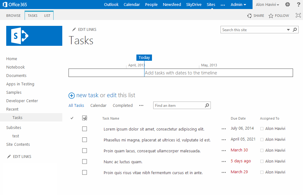 download sharepoint task list for windows phone alon havivi 39 s blog. Black Bedroom Furniture Sets. Home Design Ideas