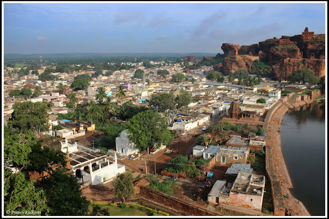 Badami view from Cave