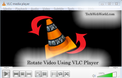 vlc rotate video