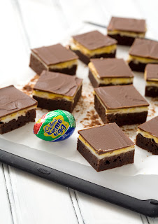 Cadbury Creme Egg Brownies by Love and Olive Oil.