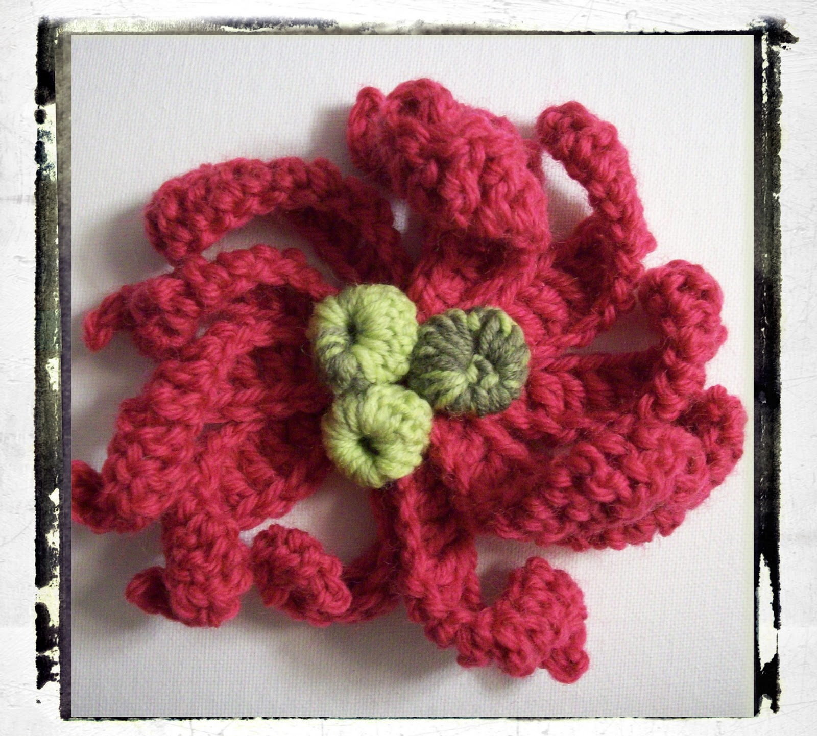 Felted Crochet Flowers