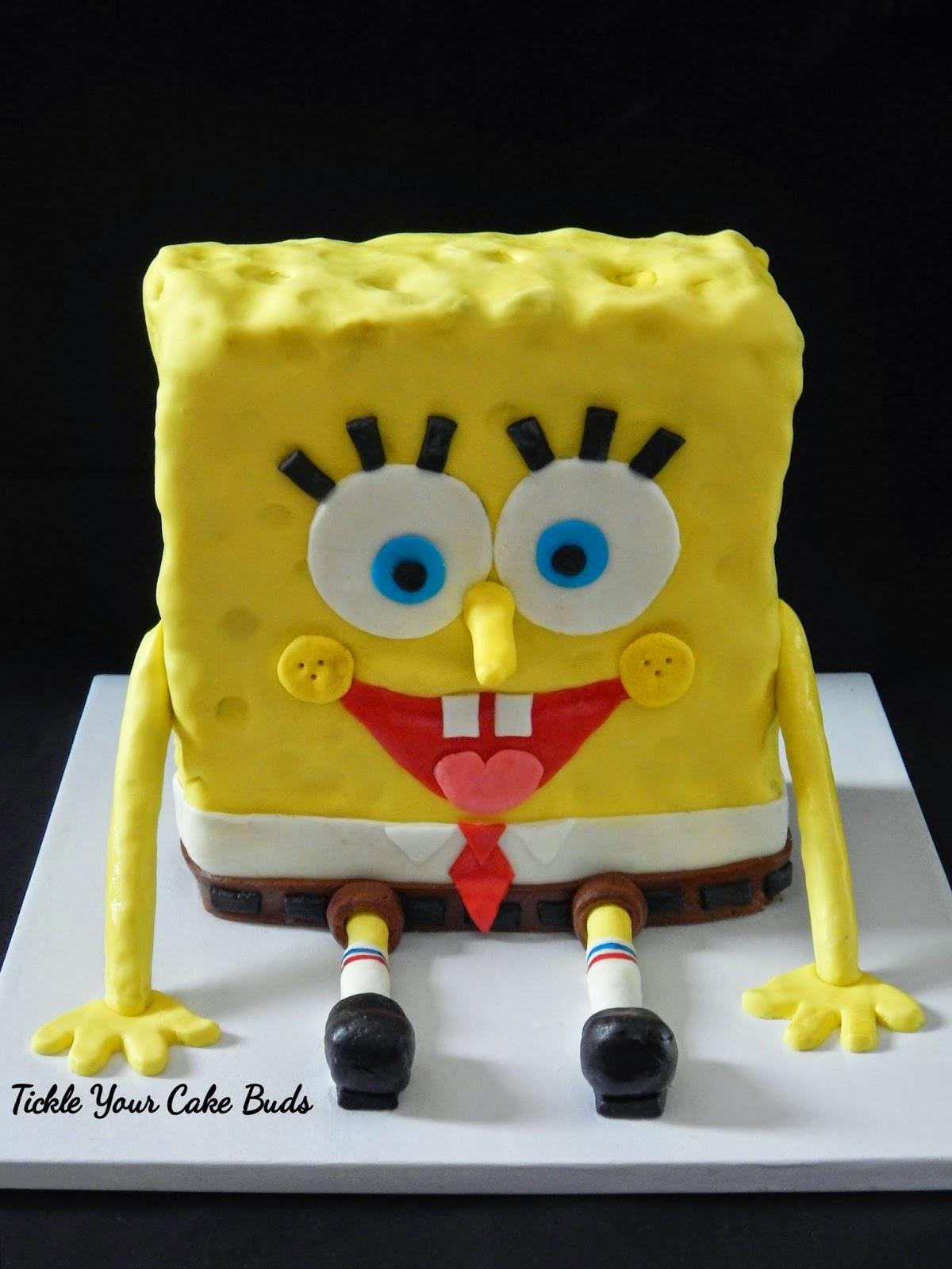 Tickle Your Cake Buds Spongebob Cake Amp Crabby Patty Cupcakes