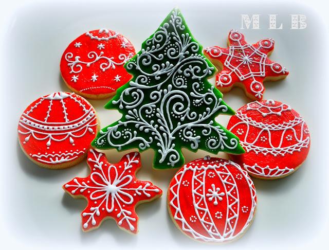 My little bakery 🌹: Christmas tree cookies...And polish-glaze ...