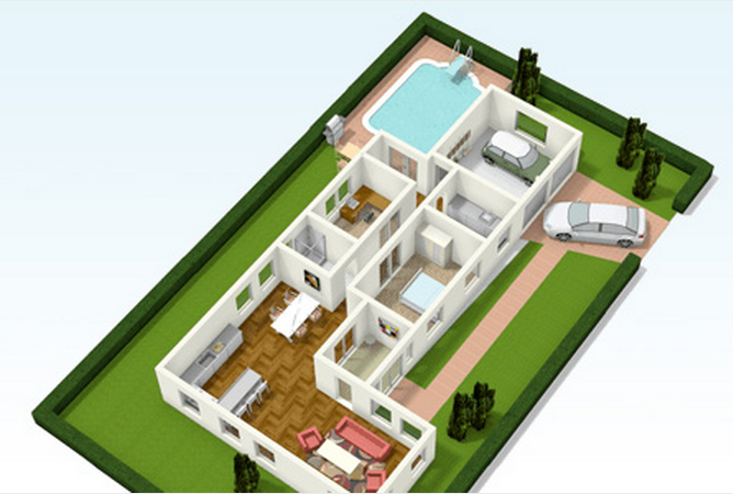 Design and create your own home in 3d using free for Floorplanner software