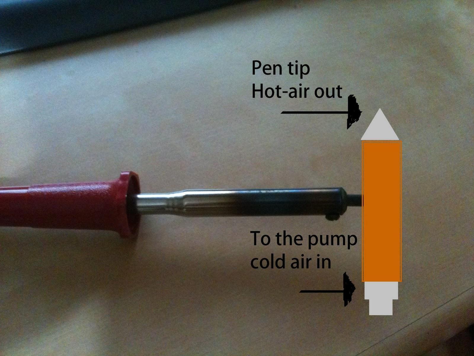 homemade electronics hot air gun using the soldering iron. Black Bedroom Furniture Sets. Home Design Ideas