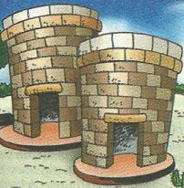 Dibujo de las Chullpas de Sillustani