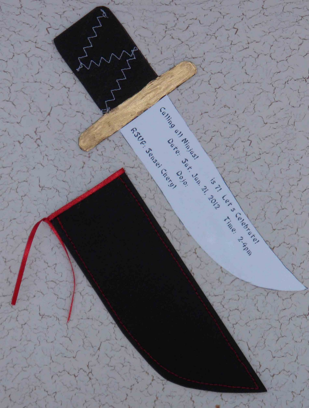 Crack of Dawn Crafts: Ninja Knife Birthday Party Invitations