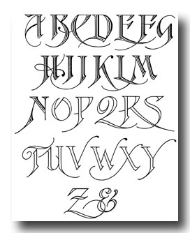 Calligraphy Alphabet Printable Calligraphy Alphabet