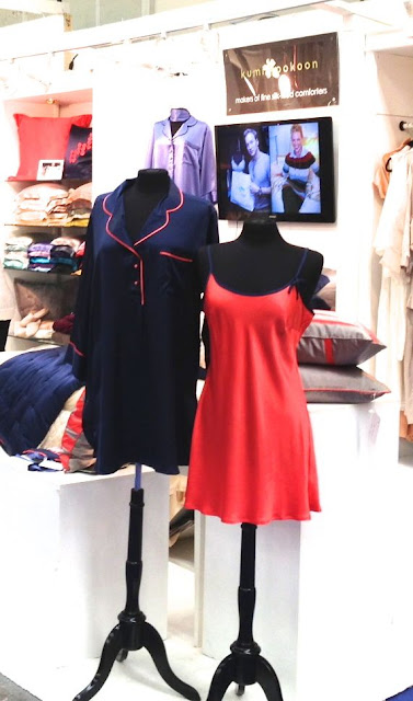 mannequins wearing silk pajamas 