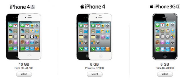 Apple iPhone 4 8GB in India available at Rs 37,900