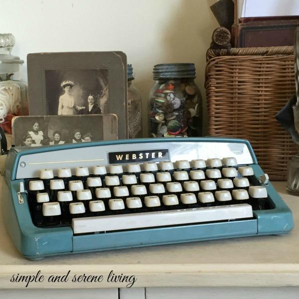 webster typewriter letter writing