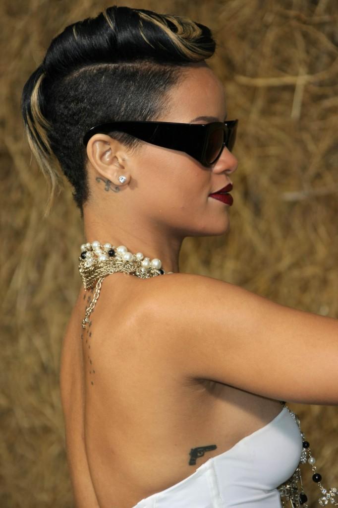Rihanna Short Hairstyles Front and Back