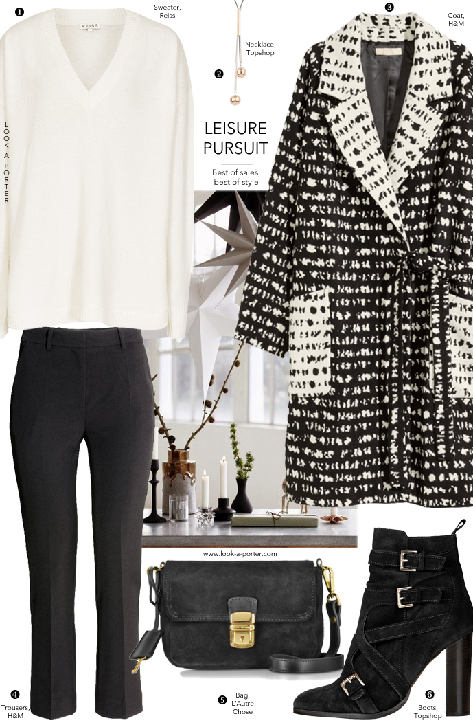 Black and white outfit idea via www.look-a-porter.com style & fashion blog