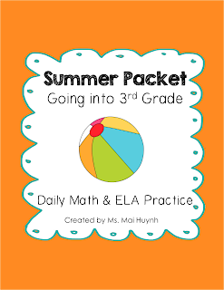 https://www.teacherspayteachers.com/Product/Summer-Packet-Going-into-3rd-Grade-1256831