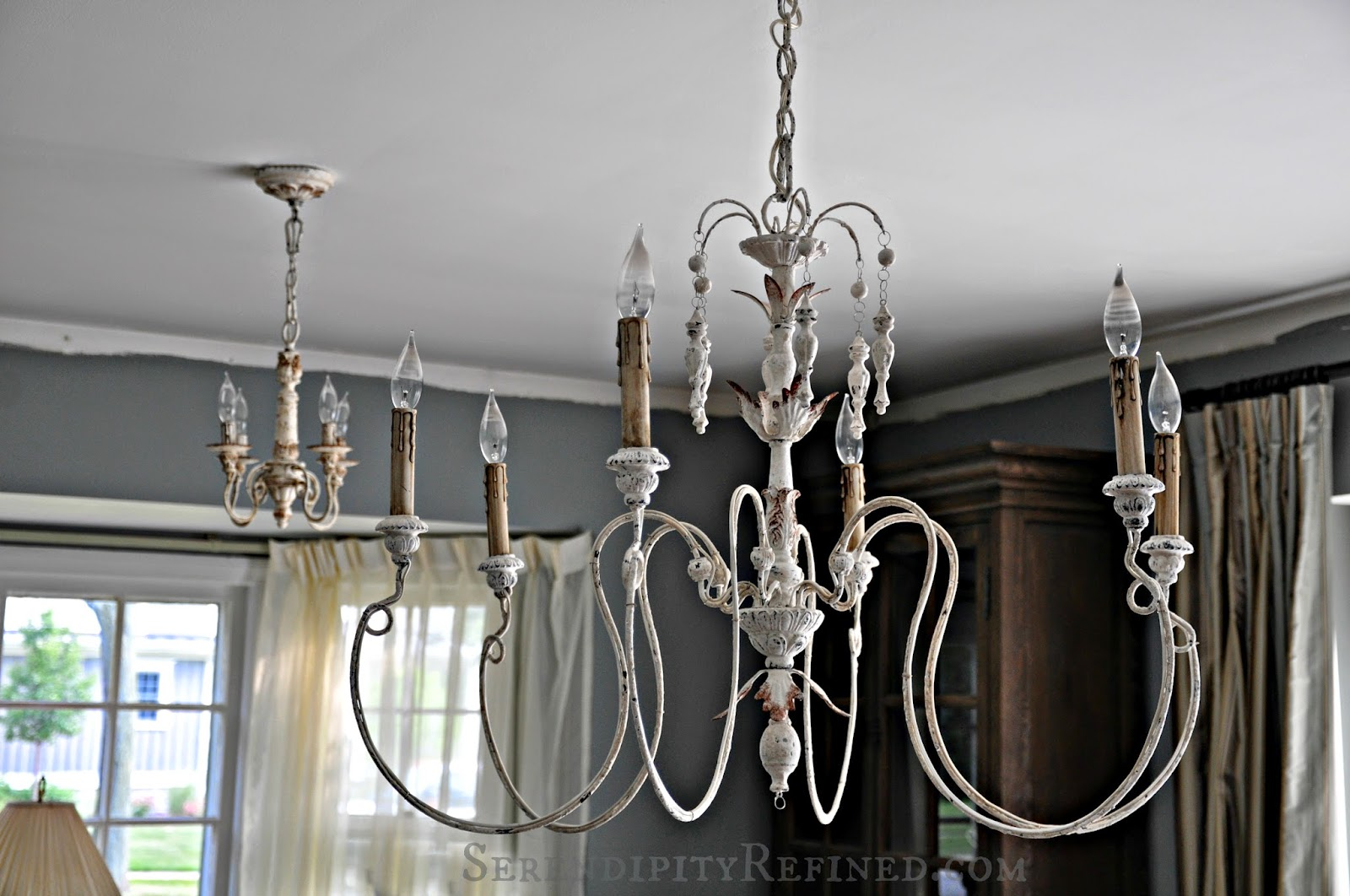 Serendipity refined blog french country light fixtures for Dining room chandeliers