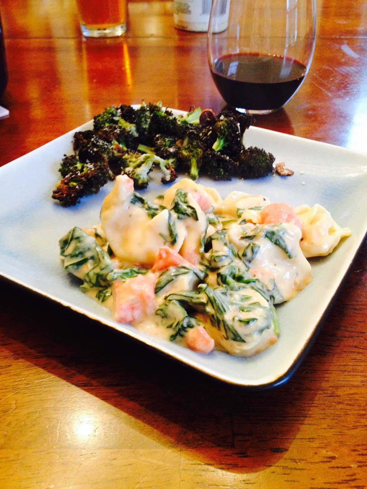 Cool dads cook meatless monday creamy spinach tomato for Cook something different for dinner