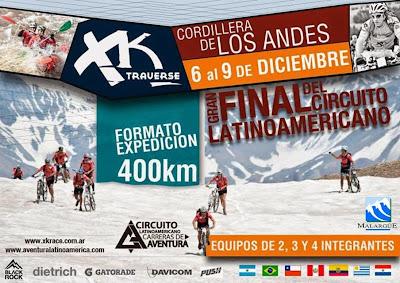 Gran final del circuito latinoamericano de aventura XK Cordillera de los Andes (06-09/dic/2014)