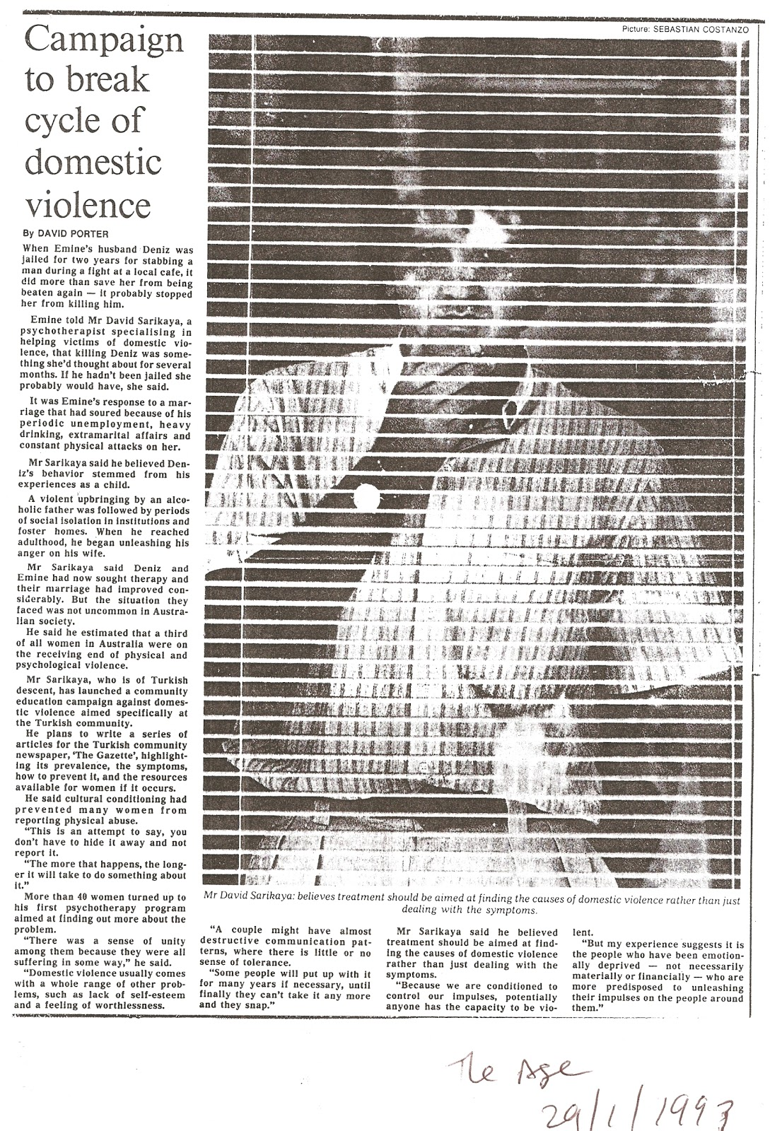 Domestic violence research articles