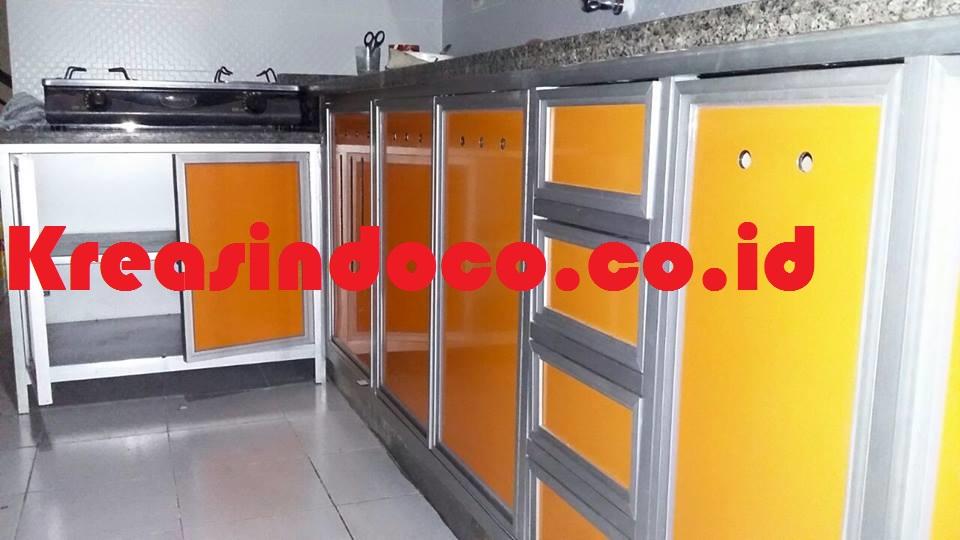 Pemasangan kitchen set aluminium di pondok gede jati for Pemasangan kitchen set