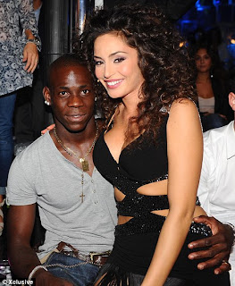 Mario Balotelli with grilfriend, raffaella, mario Balotell and ex-girlfriend