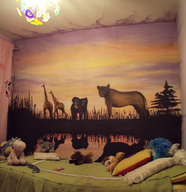 graffiti de izak en habitación, chile