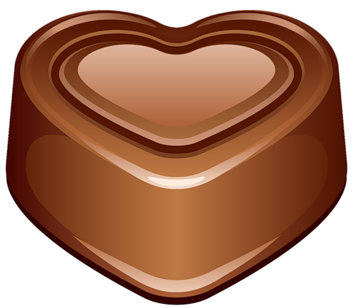 Chocolate heart emoticon