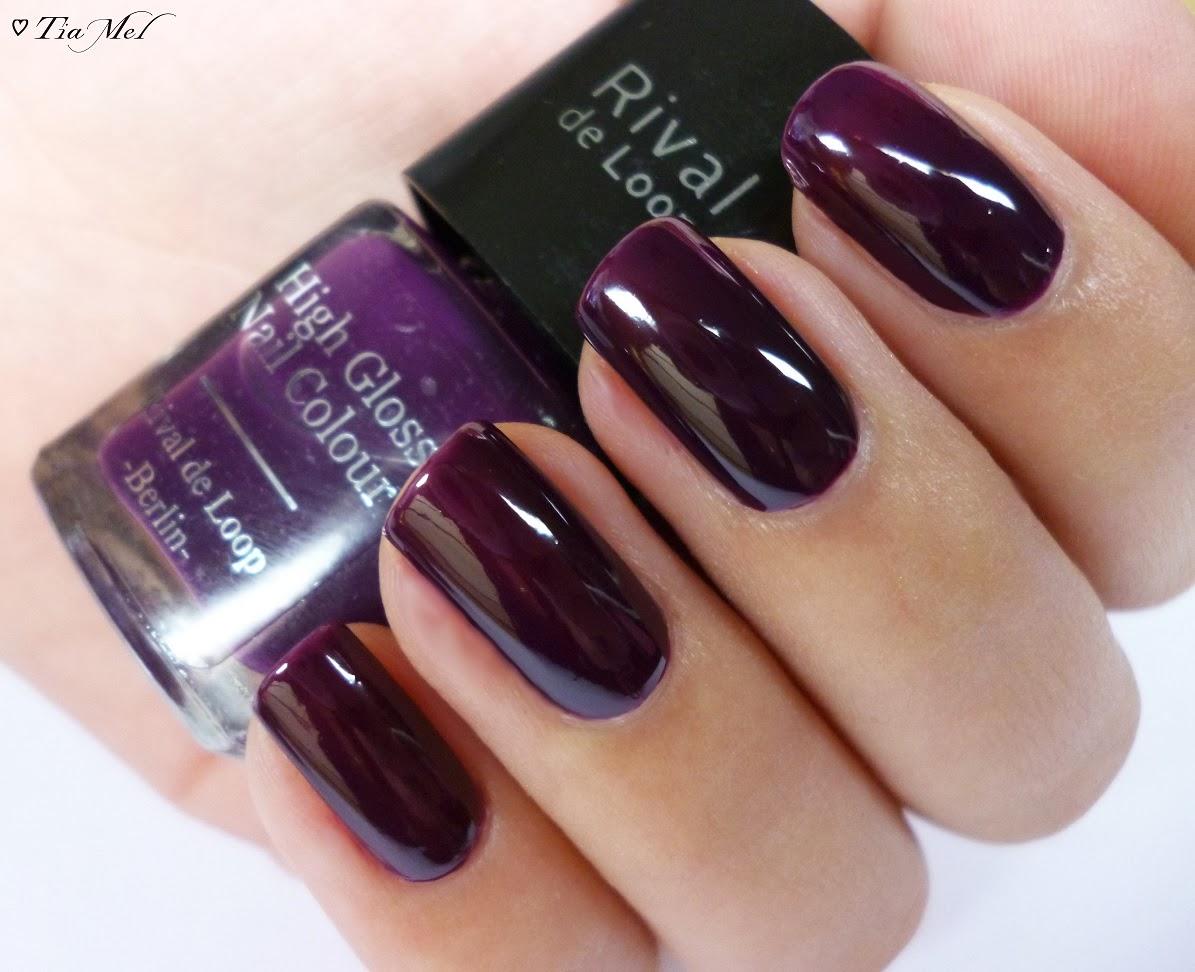 nails lacke in farbe und bunt aubergine high gloss nail colour nr 45 rival de loop. Black Bedroom Furniture Sets. Home Design Ideas