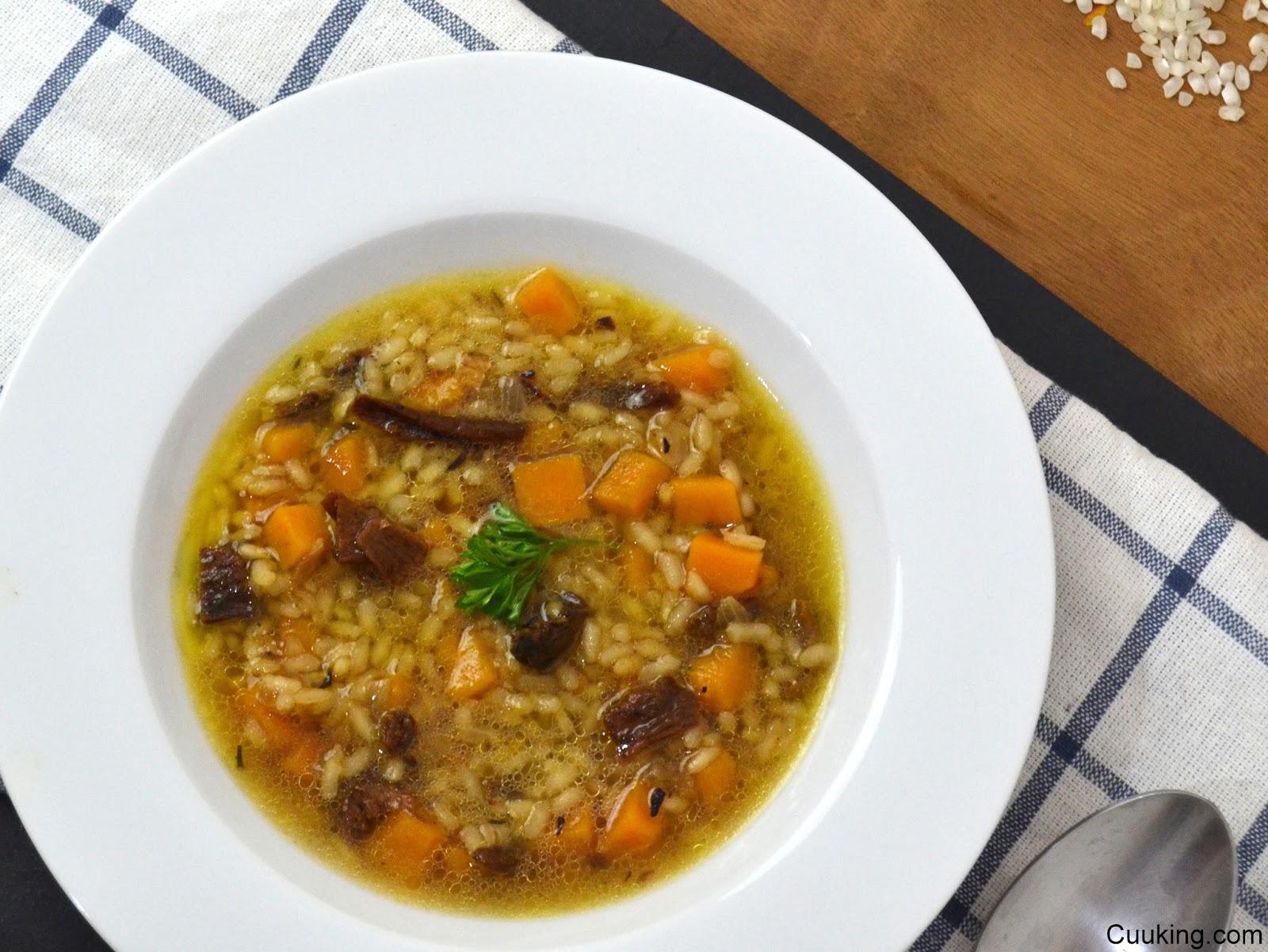 Arroz Caldoso Con Setas Y Pollo arroz caldoso con calabaza y setas | cuuking! recetas de cocina