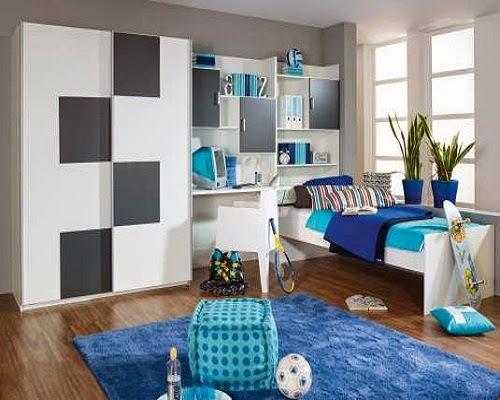 Jolie chambre enfants en Couleur  bleus