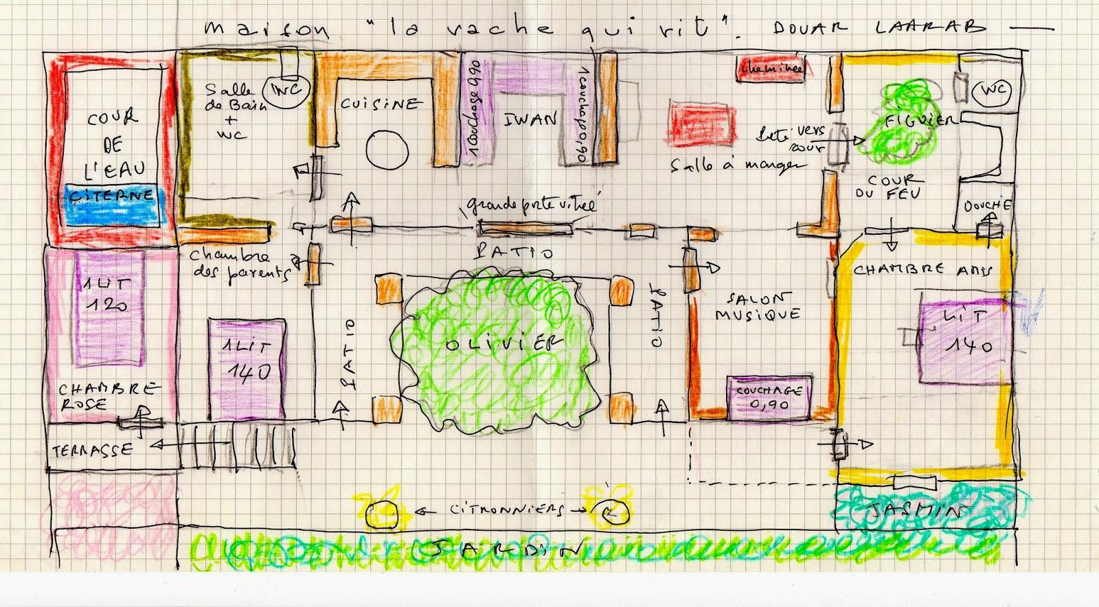 pour agrandir cliquer sur limage - Plan D Une Maison Marocaine