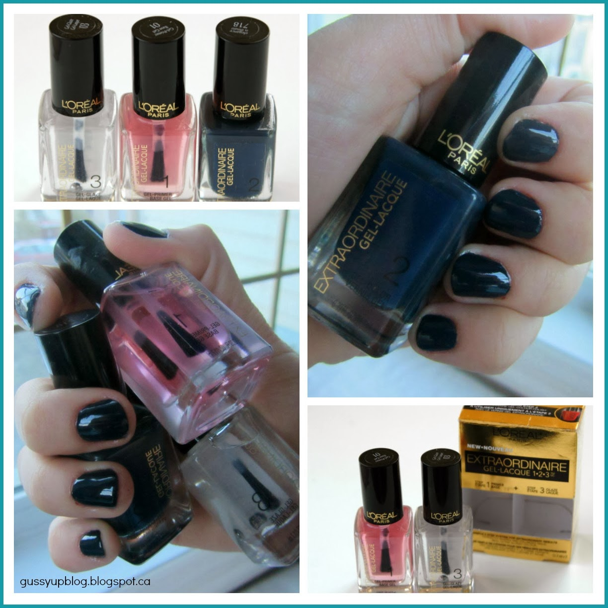 Review, Swatch and Tutorial: L'Oreal Paris Extraordinaire Gel-Lacque 1-2-3 featuring Elegance is Innate Nail Gel-Lacque