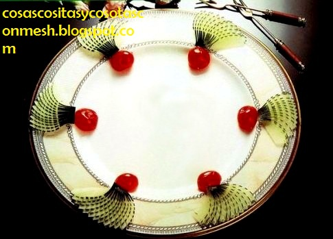 Como decorar un plato de comida con pepinos cositasconmesh - Decoracion de platos ...