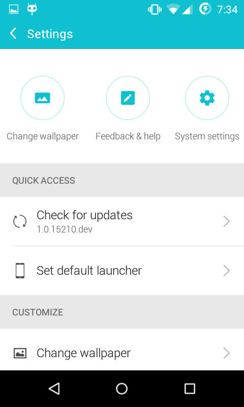 how to change the launch page in android