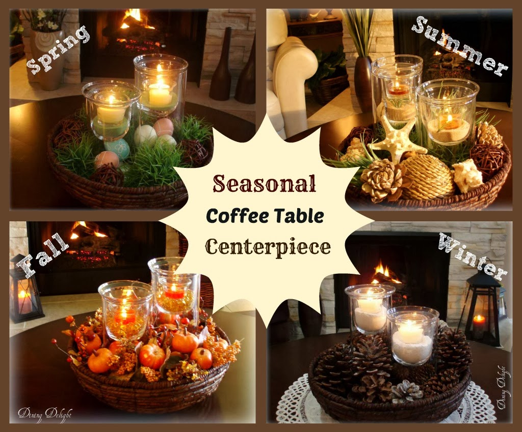 Dining delight fall coffee table centerpiece for Coffee table centerpiece