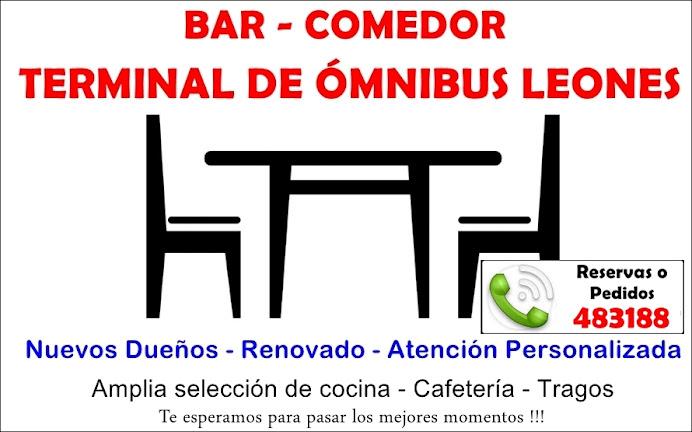 ESPACIO PUBLICITARIO: BAR-COMEDOR TERMINAL DE LEONES.